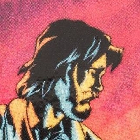 "tejr's avatar: detail of cover of The Protomen's album ""Part II: The Father of Death"", depicting the hero, Dr. Thomas Light in profile"